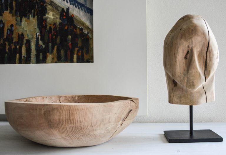 XXL wooden bowl & sculpture