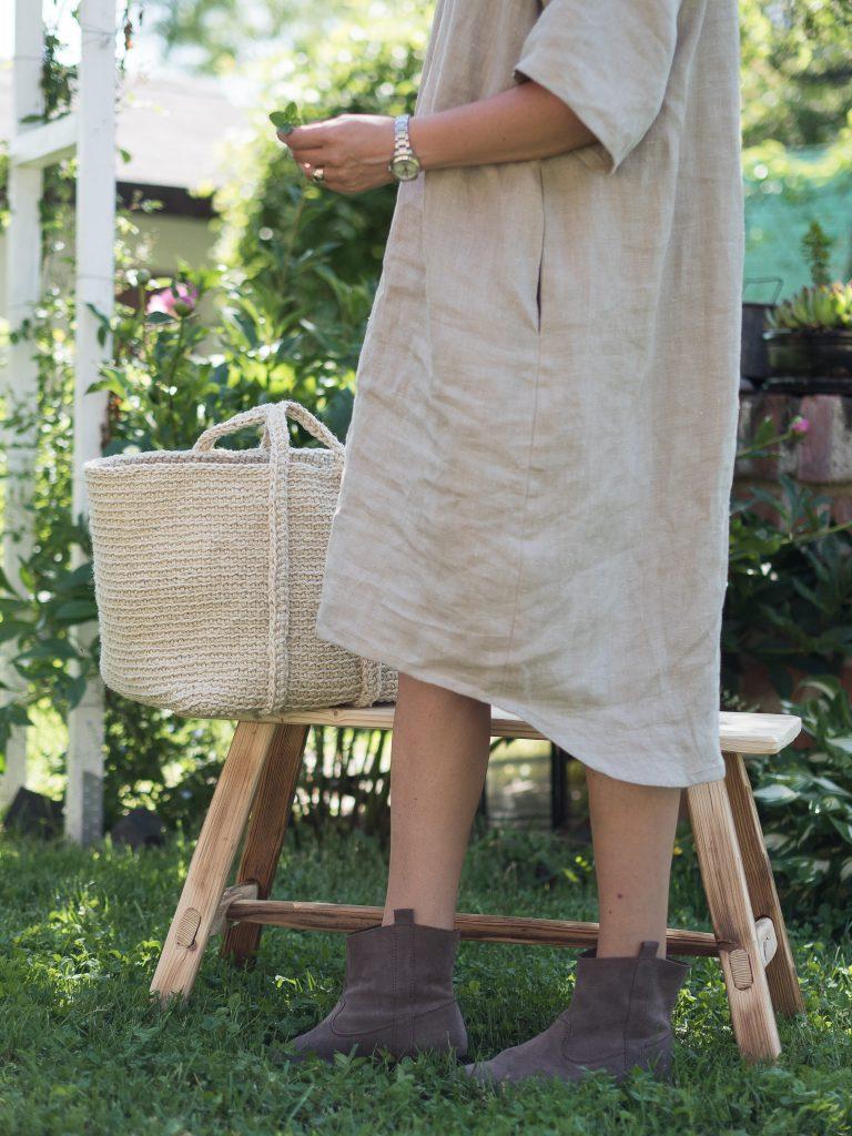 Natural linen dress