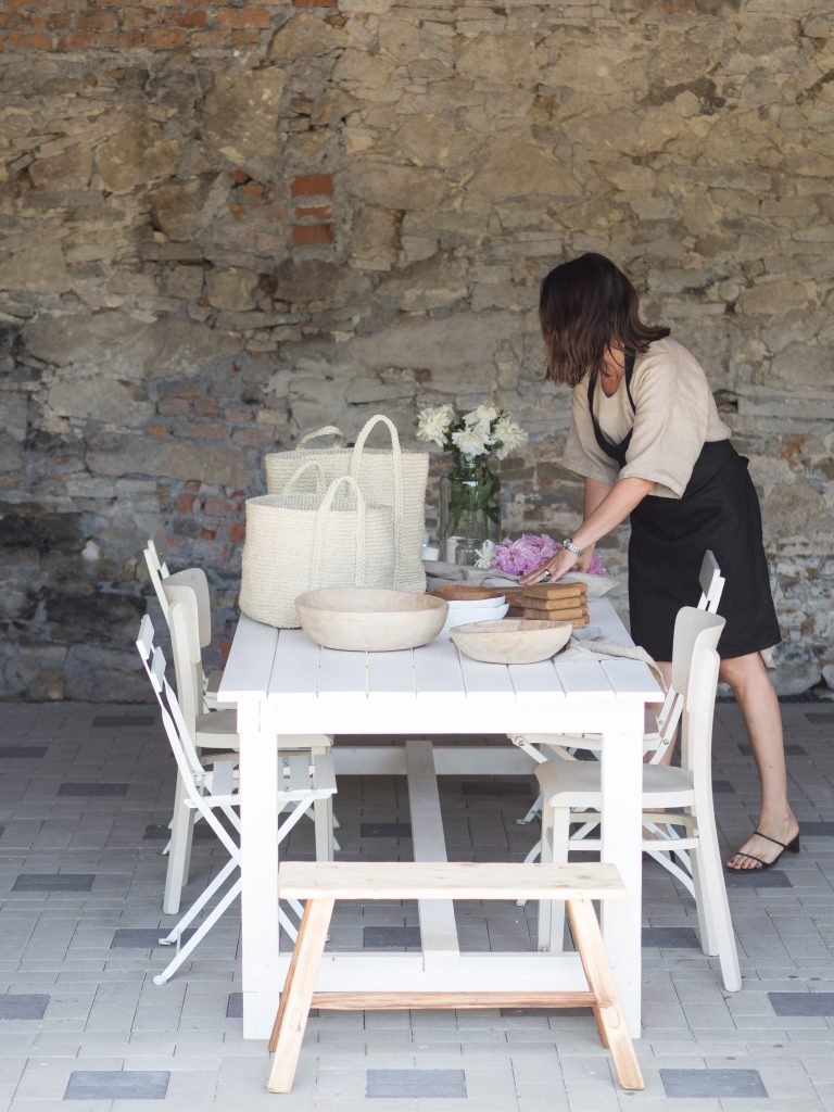 natural linen dress & apron
