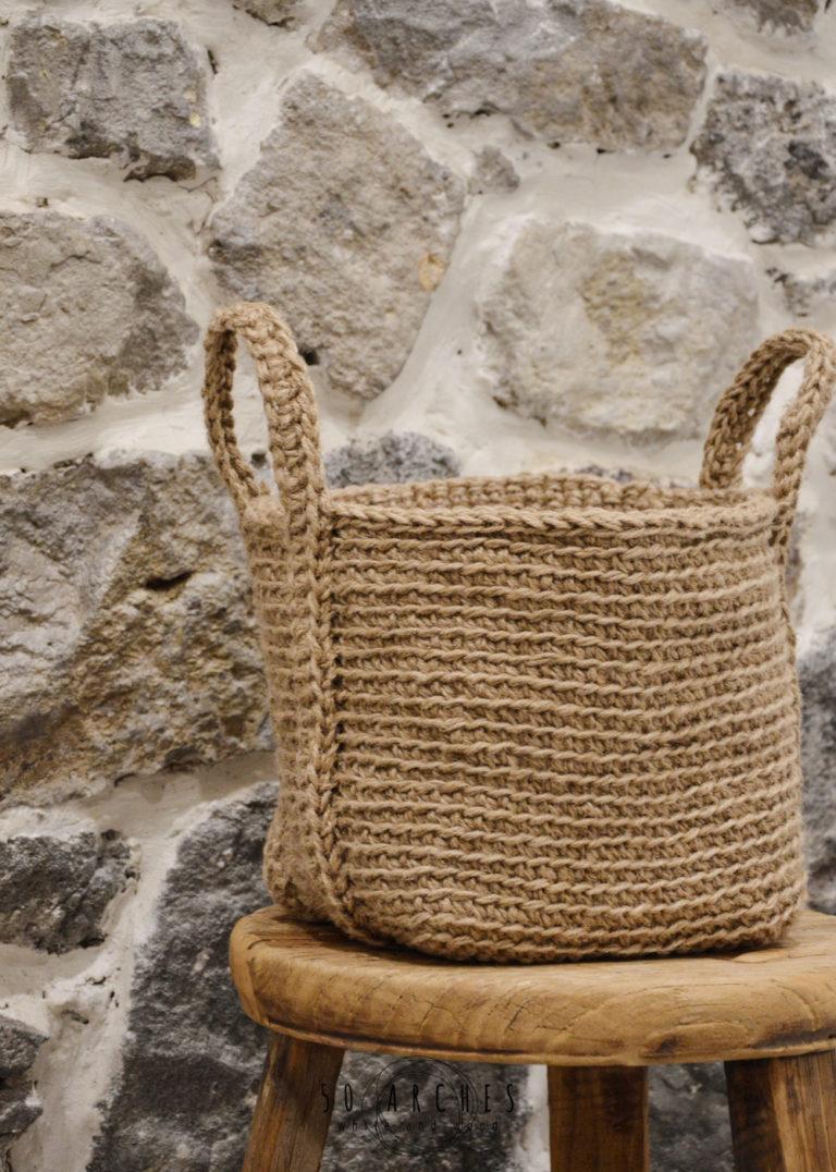jute basket small