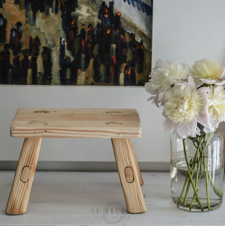 wooden baby stool