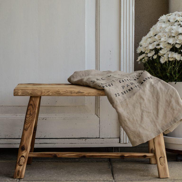 handmade wooden bench