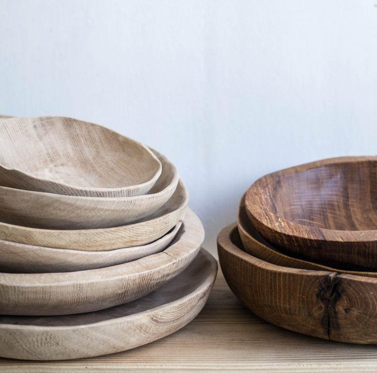 drevené misy natural a olejované